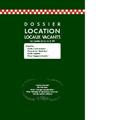Exacompta 44e dossier location locaux vacants - Contrat de location locaux vacants non meubles ...