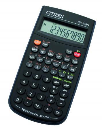 citizen 72220 90 calculatrice de table scientifique sr 135n coloris noir fournitures. Black Bedroom Furniture Sets. Home Design Ideas