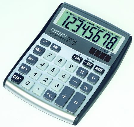 citizen 72480 95 calculatrice de table petit format cdc 80wb coloris argent fournitures. Black Bedroom Furniture Sets. Home Design Ideas