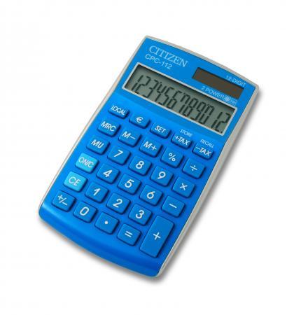 citizen 72553 34 calculatrice de poche cpc 112lbwb coloris bleu clair fournitures. Black Bedroom Furniture Sets. Home Design Ideas