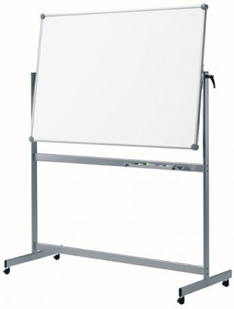 maul 63362 84 tableau blanc mobile r versible 100x150 cm coloris gris fournitures. Black Bedroom Furniture Sets. Home Design Ideas