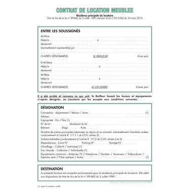 Contrat type location meublee meilleures ventes de - Location meublee documents a fournir ...