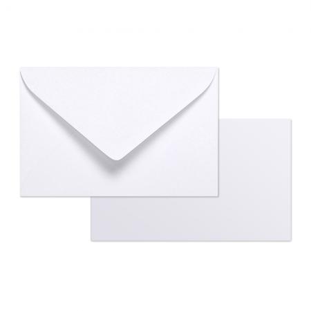 Sachet De 20 Enveloppes Gommes Doublure Blanche 90x140 Cartes Bristol Blanc