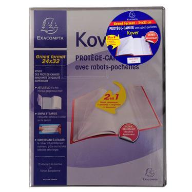 Papeterie fournitures de bureau et scolaires - Protege cahier avec rabat ...