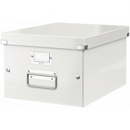 leitz 6044 00 01 bo te de rangement click store format a4 en pp coloris blanc perl. Black Bedroom Furniture Sets. Home Design Ideas