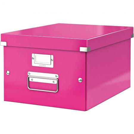 leitz 6044 00 23 bo te de rangement click store format a4 en pp coloris rose m tallique. Black Bedroom Furniture Sets. Home Design Ideas