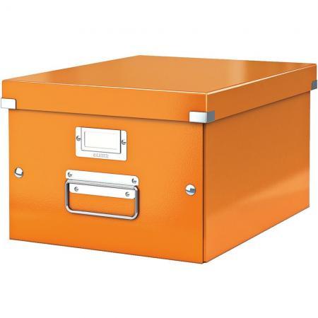 leitz 6044 00 44 bo te de rangement click store format a4 en pp coloris orange m tallique. Black Bedroom Furniture Sets. Home Design Ideas