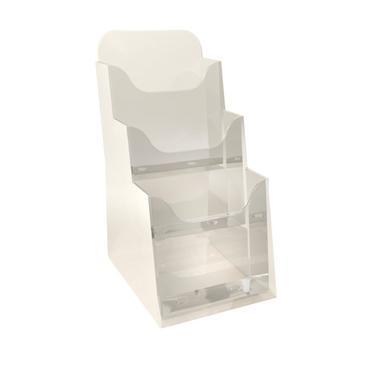 exacompta 73158d distributeur format prospectus 1 3 a4 3 cases cristal fournitures. Black Bedroom Furniture Sets. Home Design Ideas