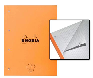 rhodia 118014c bloc feuillets side a4 80 feuilles perfor es microperfor s 80 g m coloris. Black Bedroom Furniture Sets. Home Design Ideas