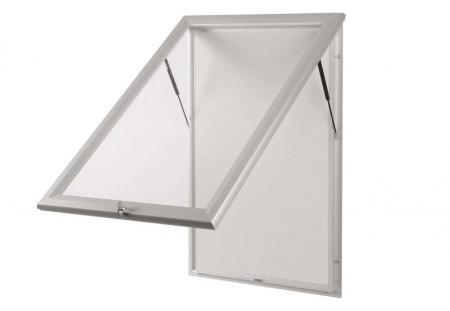 maul 68957 08 vitrine pro pour 27 x feuilles a4 cadre aluminium anodis coloris argent. Black Bedroom Furniture Sets. Home Design Ideas