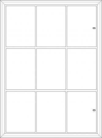 maul 69739 08 vitrine s rie s pour 9 x feuilles a4 cadre aluminium anodis coloris argent. Black Bedroom Furniture Sets. Home Design Ideas