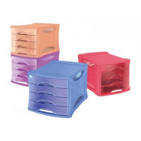 esselte 623464 bloc de classement intego 4 tiroirs coloris assortis fournitures. Black Bedroom Furniture Sets. Home Design Ideas