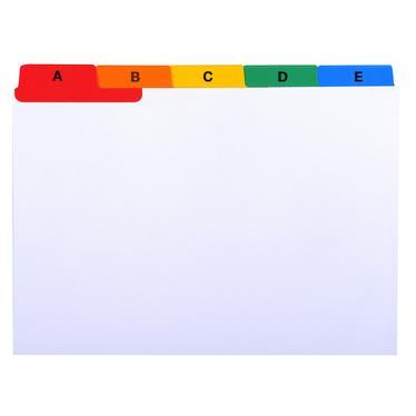 Intercalaires perfor/és 5 onglets Papier kraft Couleurs Format A5