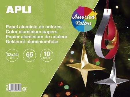 Clairefontaine 98340C Papier Bollywood 12 feuilles 30,5x30,5cm Orange